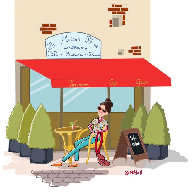 detente-honfleur-vieux-port-dessin