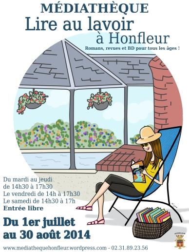 Lire au lavoir à Honfleur