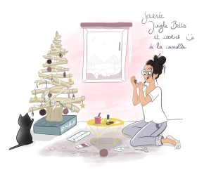 Illu de Noël Sapin ©MiHaM Illustration